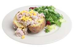 Jacket Potato with Tuna and Corn Stock Images