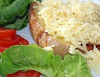 Jacket potatoe and salad Royalty Free Stock Photography