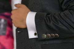 Jacket's buttons Royalty Free Stock Photography