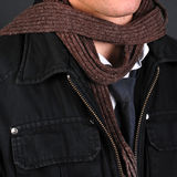 Jacket and scarf detail Stock Image
