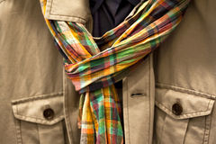 Jacket and scarf Royalty Free Stock Photography