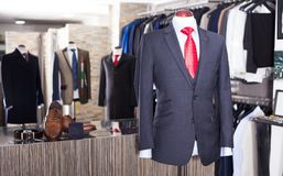 Jacket with shirt and tie on mannequin Royalty Free Stock Images