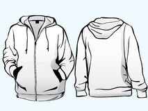 Jacket or sweatshirt  template Royalty Free Stock Photography