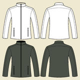 Jacket template - front and back Stock Image