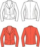 Jacket. Vector illustration of womens jacket. Front and back views Royalty Free Stock Images
