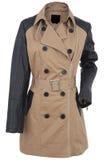 Jacket. Woman leather jacket isolated on a white background royalty free stock photos