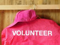 A jacket with a word volunteer on it stock photography