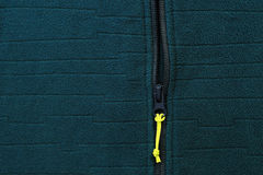 Jacket with zipper close-up royalty free stock photos