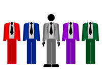 Jackets colors Royalty Free Stock Image