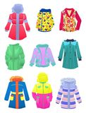 Jackets for girls Stock Images