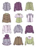 Jackets for little girls Stock Photo