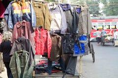 Jackets for sale, Kolkata, India Royalty Free Stock Images