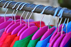 Jackets in the shop Royalty Free Stock Photography