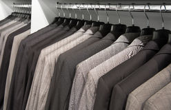Jackets in the shop Stock Photos