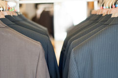 Jackets store Royalty Free Stock Image