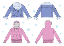 Jackets for young women Royalty Free Stock Photo