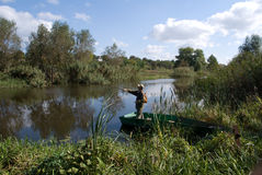 Jackfishing Imagens de Stock Royalty Free