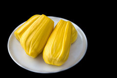 Jackfruit on black background. Ready to eat jackfruit, tripical fruit Stock Image