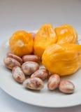 Jackfruit e semente Fotografia de Stock Royalty Free
