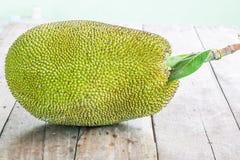 Jackfruit en la madera Fotografía de archivo libre de regalías