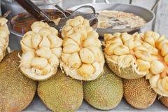 Jackfruit genus Artocarpus. Is Tropical Fruit in Thailand Stock Photos