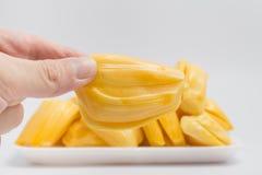 Jackfruit handed, thai fruit isolate on white background Stock Image