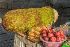 Jackfruit at the market Stock Photos