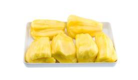 Jackfruit na placa Imagem de Stock