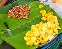 Jackfruit seed pieces Stock Photos