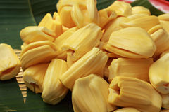 Jackfruit on a tray in the market Royalty Free Stock Photo