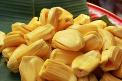 Jackfruit on a tray in the market Stock Image