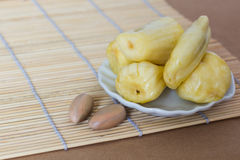 Jackfruit on white plate Stock Photo