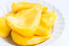 Jackfruits on white background Royalty Free Stock Photos