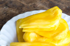 Jackfruits in white plate Royalty Free Stock Image