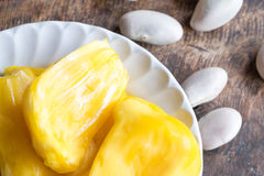 Jackfruits in white plate Royalty Free Stock Images