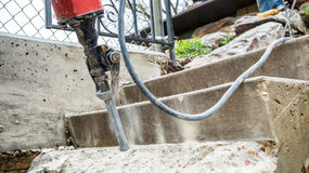 Jackhammer in action Royalty Free Stock Images