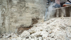 Jackhammer in action Royalty Free Stock Image