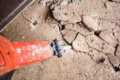 Jackhammer in action Stock Image