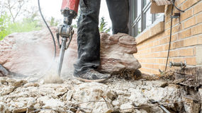 Jackhammer in action Royalty Free Stock Photos