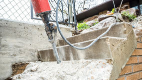 Jackhammer in action Royalty Free Stock Photo