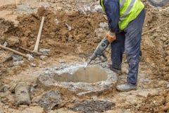 Jackhammer concrete Stock Image
