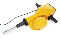 Jackhammer construction helmet Royalty Free Stock Photography