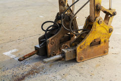 Jackhammer and drilling machine Stock Images