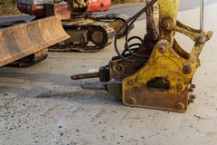 Jackhammer and drilling machine Stock Image