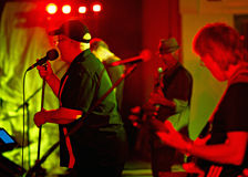 Jackhammer musicians on stage with blues band, Jackhammer Royalty Free Stock Photography