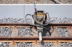 Jackhammer on the railway. Stock Images