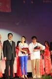 Jackie Chan e Zhang Ziyi ai giorni cinesi del film Fotografia Stock Libera da Diritti