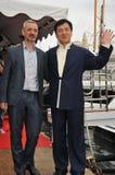 Jackie Chan et Sam Fell image stock