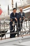 Jackie Chan et Sam Fell image libre de droits