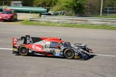 Jackie Chan gelijkstroom die het Prototype van Le Mans rennen in Monza royalty-vrije stock afbeeldingen